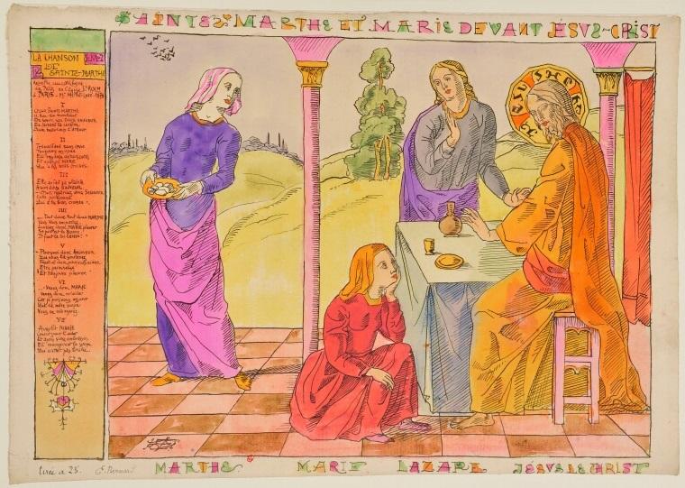 Martha en Maria bij Jezus